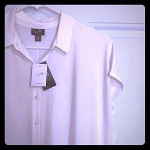 NWT J.Jill luxe Oversized Top short sleeve